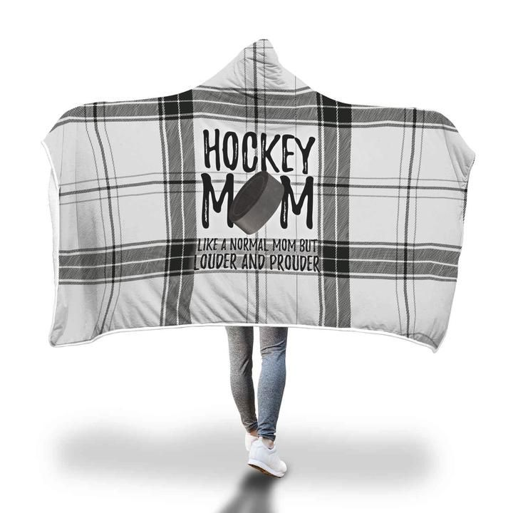 Hockey Mom Hooded Blanket Hockey Mom Soccer Mom Football Mom