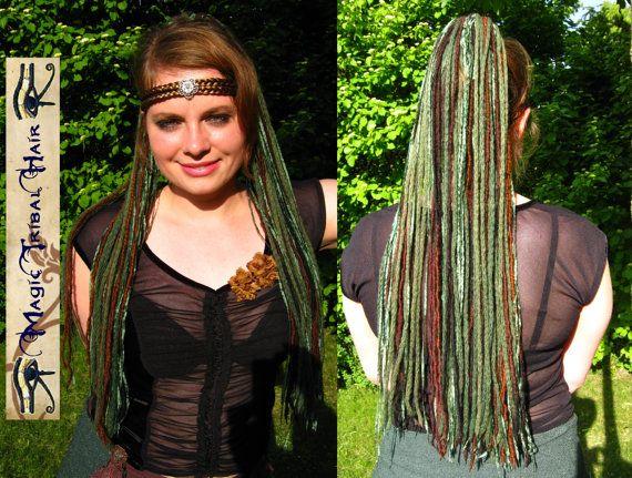 Forest ELF DREAD FALLS Renfair Fantasy yarn by MagicTribalHair