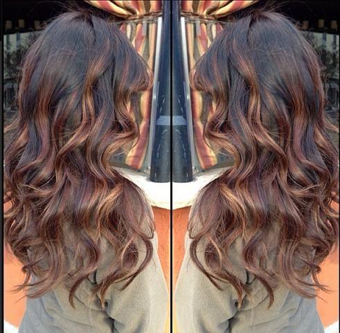 Dark brown base with balayage highlights Brown Base  Highlights hairstyles