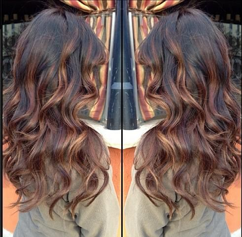Dark brown base with balayage highlights Brown Base Highlights hairstyles