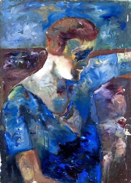 Åke Göransson (Swedish, 1902 - 1942)  Titel Woman in Blue