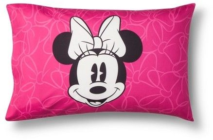 Mickey Mouse & Friends® Minnie Mouse Gray & Pink Pillow Cases (Standard)