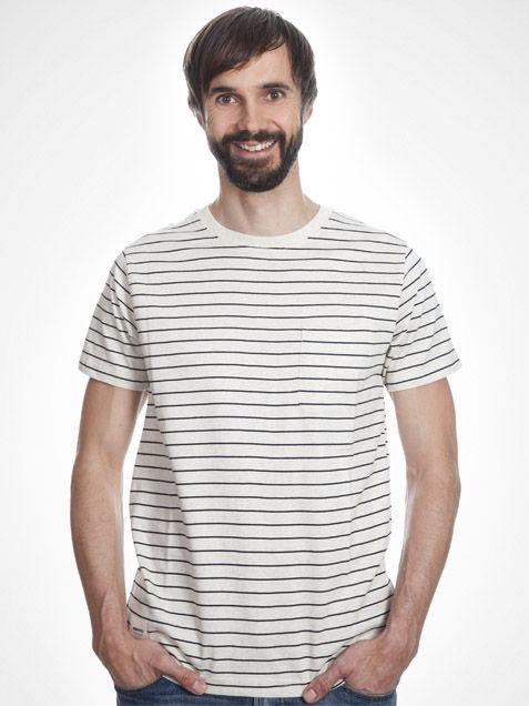 Blake T-Shirt in Stripe Sand by Wemoto