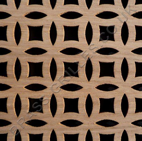 Farnham Oak Veneered Mdf Decorative Screening Panel 6ft X 2ft