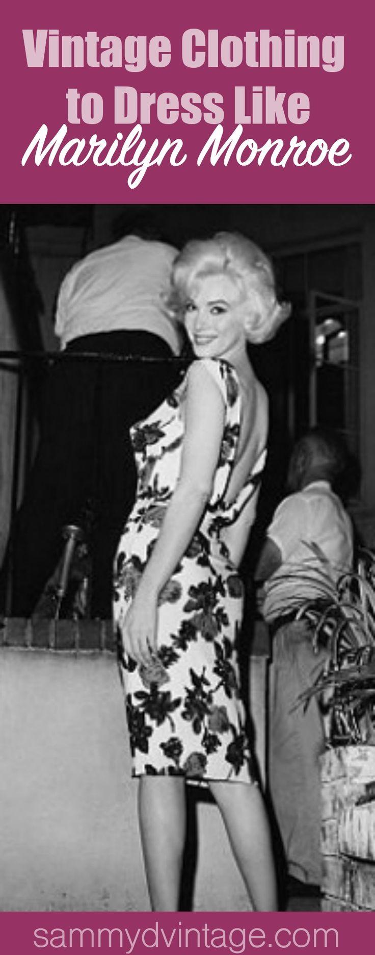 Where to Find Vintage Clothing to Dress Like Marilyn Monroe   Retro Fashion Tips & Ideas.