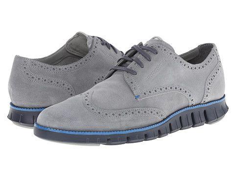 Cole Haan Zerogrand Dcon Wing Ox Limestone Suede/Berkley Blue - Zappos.com Free Shipping BOTH Ways