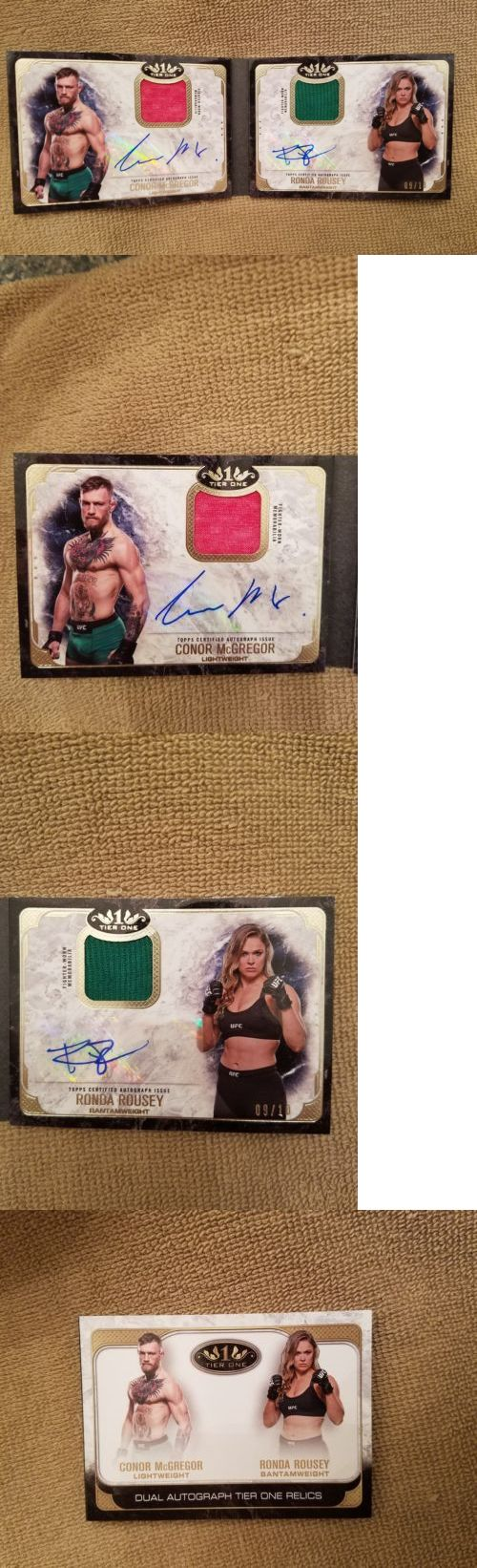 Mixed Martial Arts MMA Cards 170134: 17 Conor Mcgregor Ronda Rousey Autograph And Dual Relic Book Ufc Knockout 9 10 -> BUY IT NOW ONLY: $1499.99 on eBay!