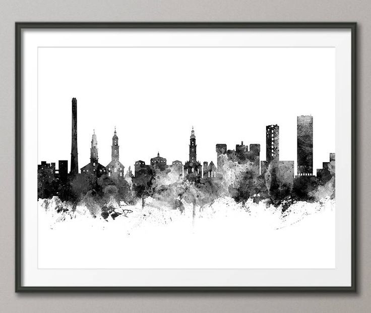Erlangen Skyline, Erlangen Germany Cityscape Art Print (3525) by artPause on Etsy