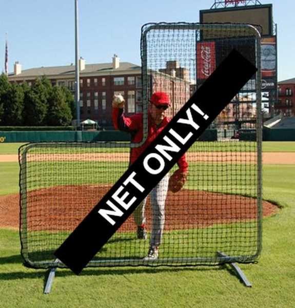 Trigon Sports ProCage Pitcher's L-Screen Replacement Net Black 7' x 7'. B427744N