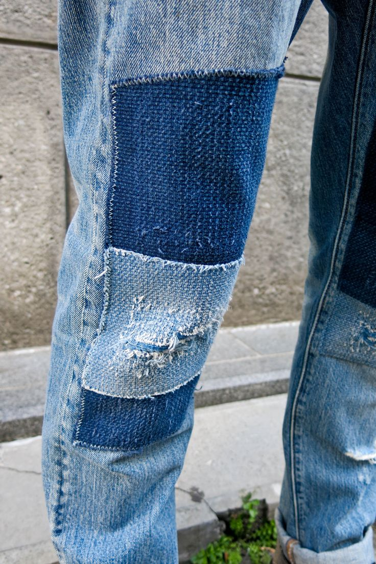 Patched Jeans Men