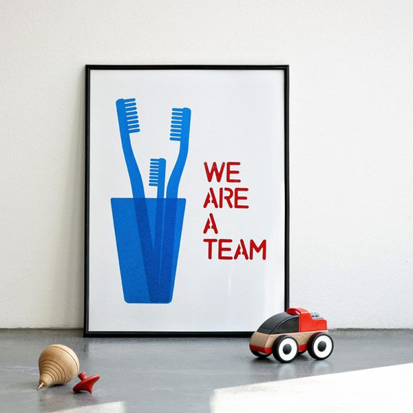 Lovely prints from ConiLab: Idea, Graphic, Blue Screenprint, Team Screenprint, Illustration, Cyan Screenprint, Kids Bathroom Art, Team Art