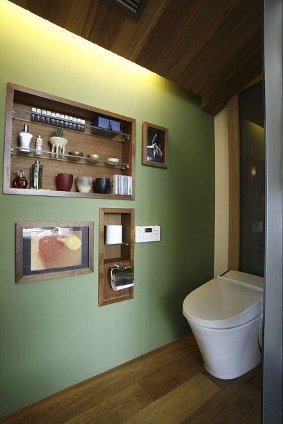 ニッチ #狭くてもかっこいいトイレ #Small restroom