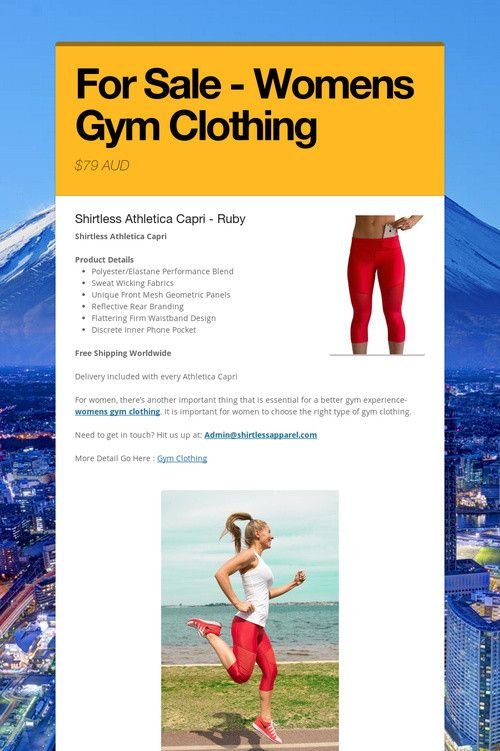 For Sale - Womens Gym Clothing