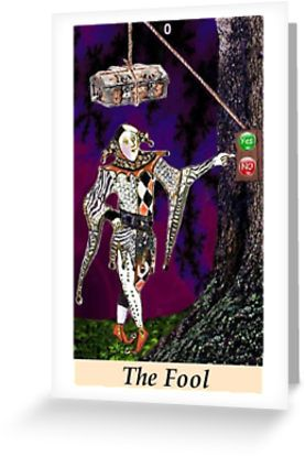 The Fool says: Just do it! What are you waiting for? Time to take a risk! � Also buy this artwork on stationery, apparel, stickers, and more. #tarotgifts