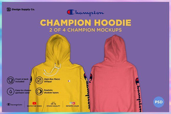 Download Champion Hoodie Mockup Hoodie Mockup Clothing Mockup Champion Hoodie
