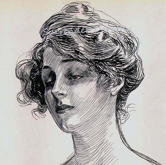 Charles Dana Gibson Feminine Study 1906.
