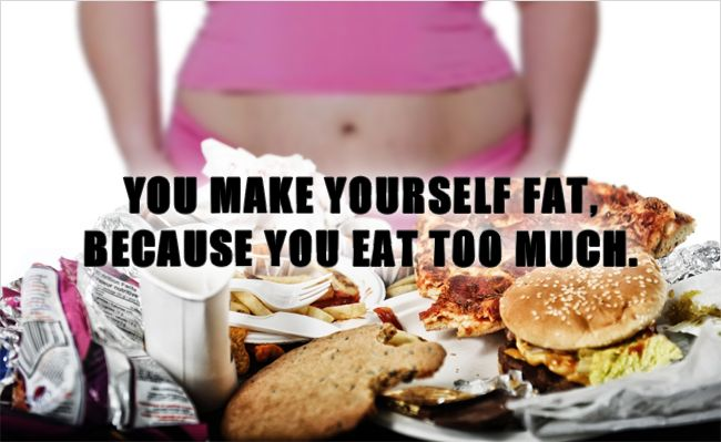 You Make Yourself Fat, Because You Eat Too Much - a 7 part guideline in understanding why you are overweight and how to drop the pounds. #healthy #healthyeating #healthylifestyle #fitness #fitfam #healthinformation #diet #weightloss #loseweight #nutrition #motivation
