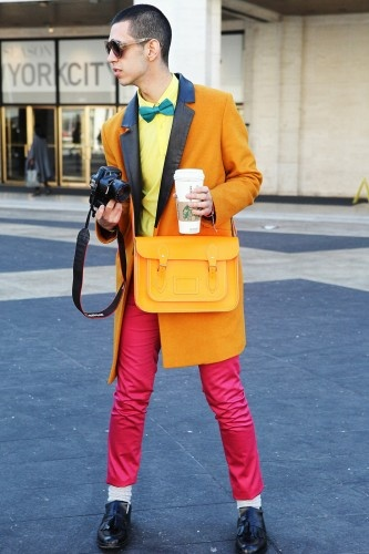 Hipsters, or whatever this guy is, are way better in NY (sorry Chitown). #NYFWtrends on refinery29.com