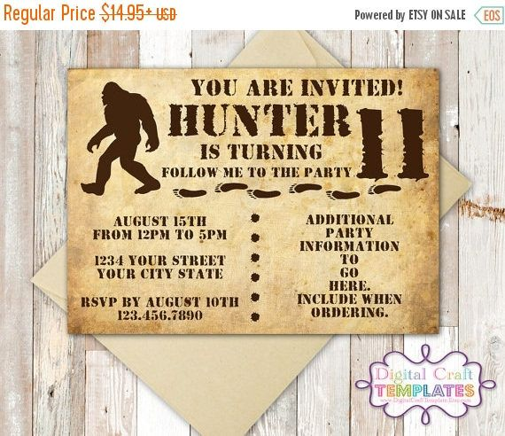 28 best Big Foot Birthday Party images – Indiana Jones Party Invitations