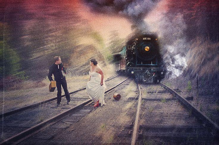 Run! A 'steamy' afternoon stroll at the historic Gundagai railway station .... by www.aj-photography.com.au