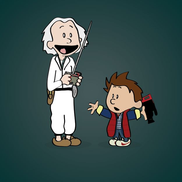 "Marty and Doc / Famous Movie Duos Re-Imagined In The Style Of ""Calvin And Hobbes"" (via BuzzFeed)"