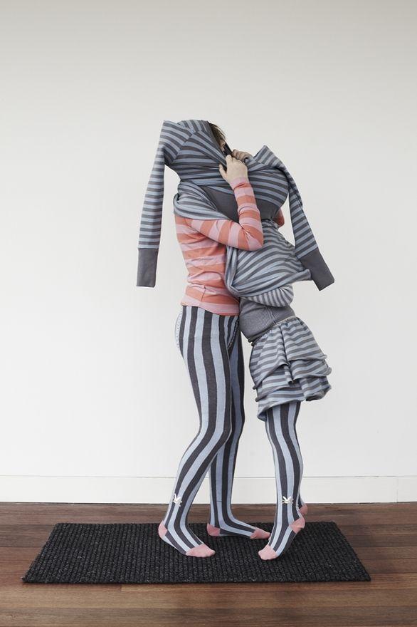 Coordinated horizontal & vertical stripes