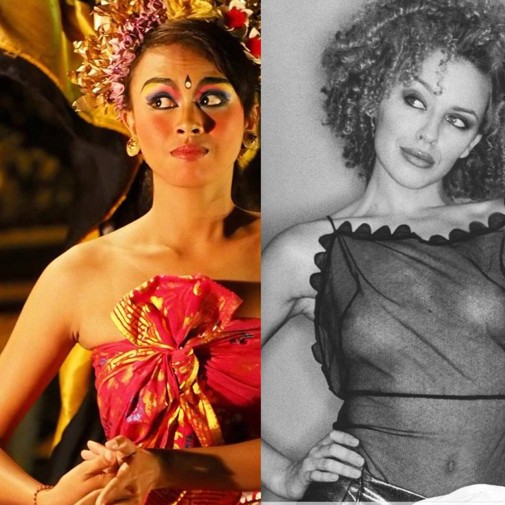 My photograph of Balinese girl in 2013 matches retro cover album of Kylie Minogue posted in September 2013.