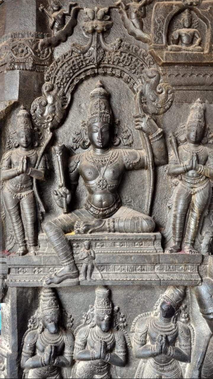 The great statue of Lord Rama at Temple in Kumbakonam, Tamilnadu