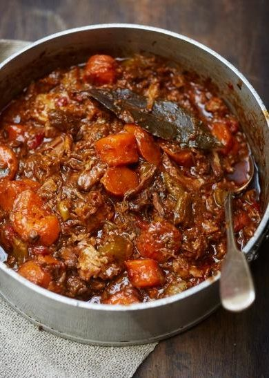 JAMIE OLIVER'S OXTAIL STEW - oxtail is super fatty - use a different cut. I used Goats do Roam red wine - it's sweeter than most wines, and turned out delish - Nat