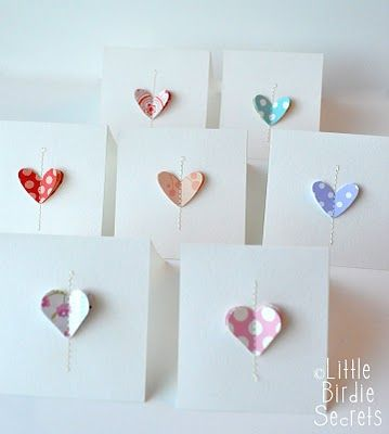 what a great, quick and easy, stash-busting idea for notelets, wedding invites, thank-you's..........  Sweet & lovely!