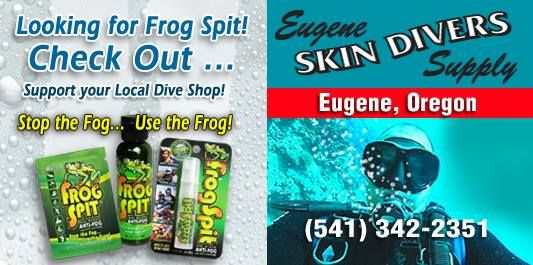 Stop by and pick up your Frog Spit today — at Eugene Skin Divers Supply. #FrogSpitAnti-Fog #SpiritLakeAreaChamberofCommerce