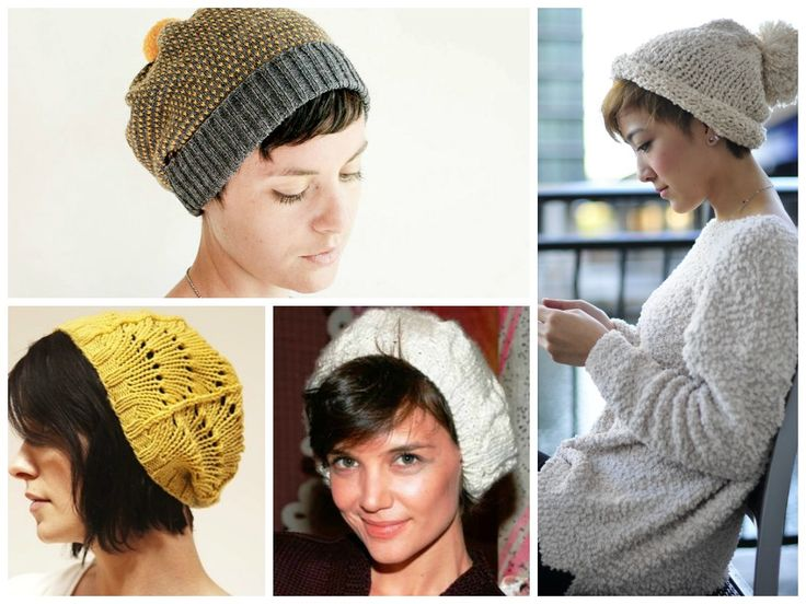Women With Short Hair Wearing Oversized Floppy Hats