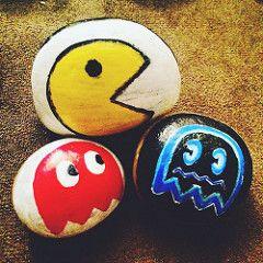 Pacman and friends (killaroxz) Tags: nintendo pacman sharpie blinky rockpainting pacmanghosts pacmanart craftsmart pacmanfanart pacmannintendo pacmanandfriends