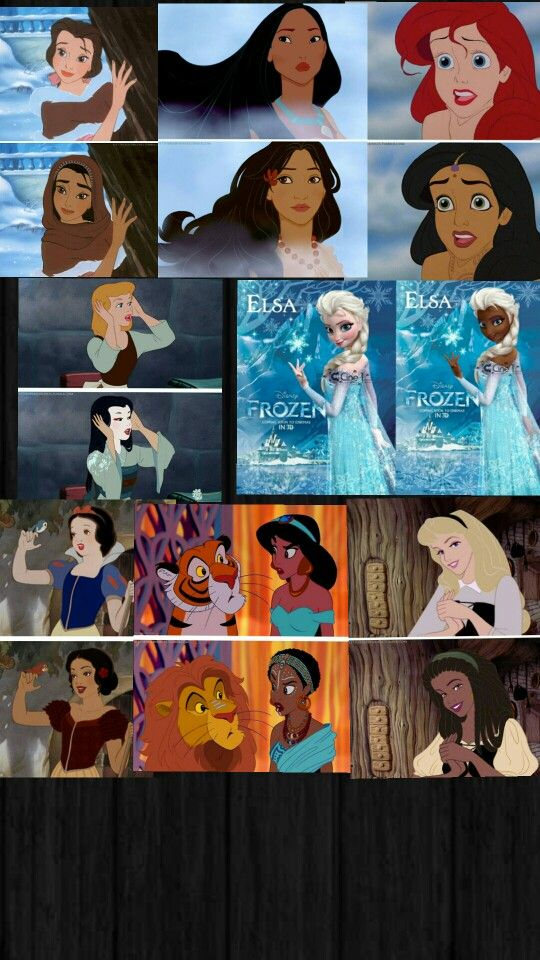 Disney Princess Different Races Disney Pinterest