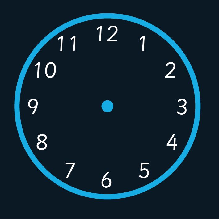 12 Hour Clock Playground Marking