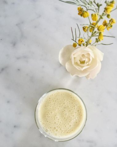 BLOG – Sun Potion  Pine Pollen Rose Cardamom Lassi 🌕💛💫made with  mango coconut yogurt, local SB wildflower honey, a generous spoonful of tocos, and Love! This is a plant-based take on the traditional Indian recipe - such an amazing probiotic, digestive supporting, heart opening full moon treat!