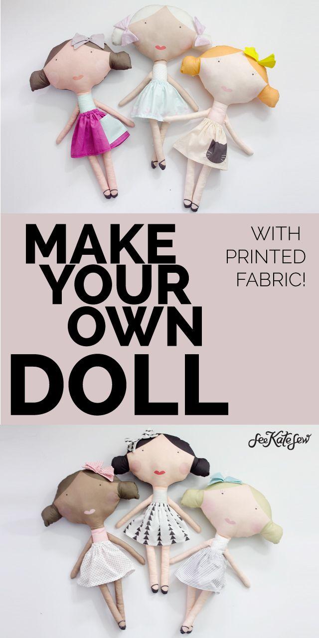PRINTED DOLL FABRIC + tutorial!