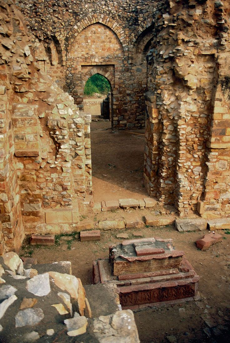 'History's Mysteries: The Stories of Delhi's Mehrauli Archaeological Park.'  A guided walk through a wonderful hodgepodge of 1,000 years of Delhi's history.  {Add: @getsholidays http://www.getsholidays.com/ to those who organize Heritage Walks here and in other parts of New Delhi.}  In Pic:  Balban's tomb is remarkably well preserved despite being open to the skies. Photo: Ashoo Sharma