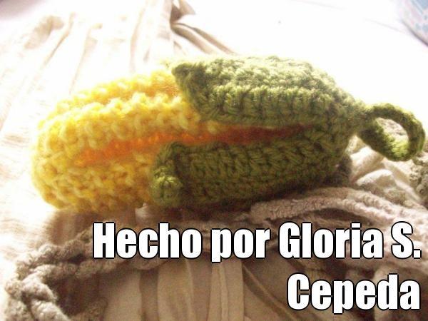 Hecho por Gloria S. Cepeda (courtesy of @Pinstamatic http://pinstamatic.com).  Mazorca publicada con paso a paso por Tejiendo Perú.