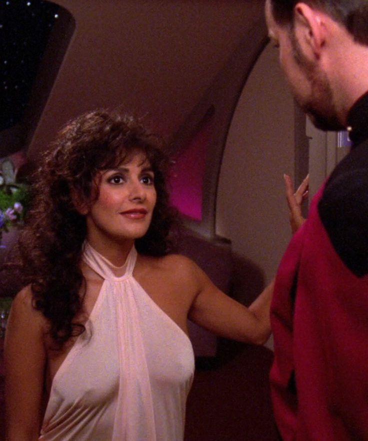 Marina Sirtis in Star Trek: The Next Generation (STNG 6x03, 1992).