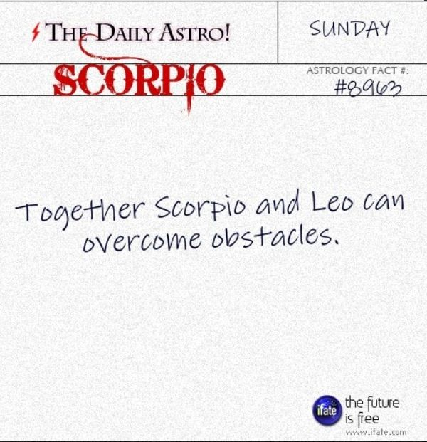 Zodiac facts: Scorpio and Leo