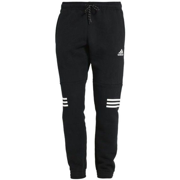 adidas Performance LINEAR  - Tracksuit bottoms - black/white -... (69 CAD) ❤ liked on Polyvore featuring activewear, activewear pants, pants, adidas, adidas activewear, adidas sportswear and track pants
