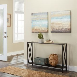 ... Modern Discount Furniture Store. Shop For Black Powder Coated Metal  Cross Style Console Table. Get Free Shipping At