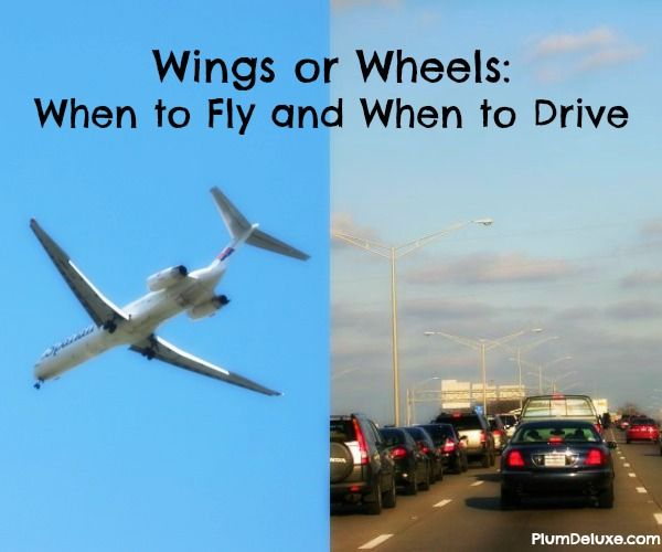 Wings or Wheels: When to Fly and When to Drive