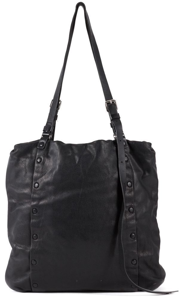 ALLSAINTS Authentic Black Leather Tote Shoulder Bag #AllSaints #TotesShoppers