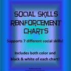 Social skills reinforcement chart pack   Help your students reinforce their social skills! These skills do not always come naturally to students with Autism, Asperger's and other disorders...