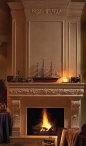 Image result for cast stone fireplace and overmantel