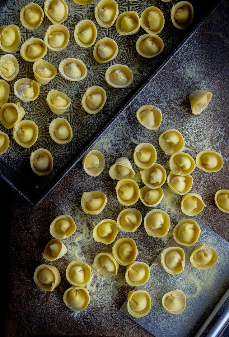 Homemade Pasta: Cappelletti or 'Little Hats' (1) From: Wild Greens And Sardines, please visit