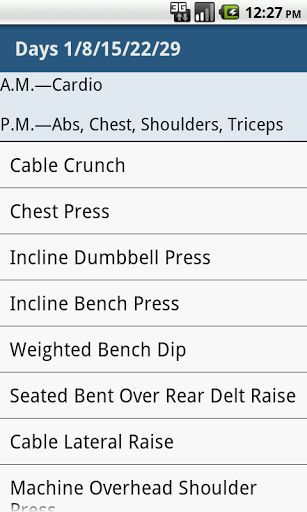 This application covers the entire body workouts but gives special priority to your abs—you'll work them first in every session.<p>Most of the exercises won't be new to you, but take note of how they're performed. You'll use a variety of intensity-boosting techniques, such as holding a peak contraction and performing a slow negative (lowering) portion of a rep, to bring out the most muscularity.<p>Follow a clean diet along the way to preserve all your muscle—and possibly gain a bit—as you…