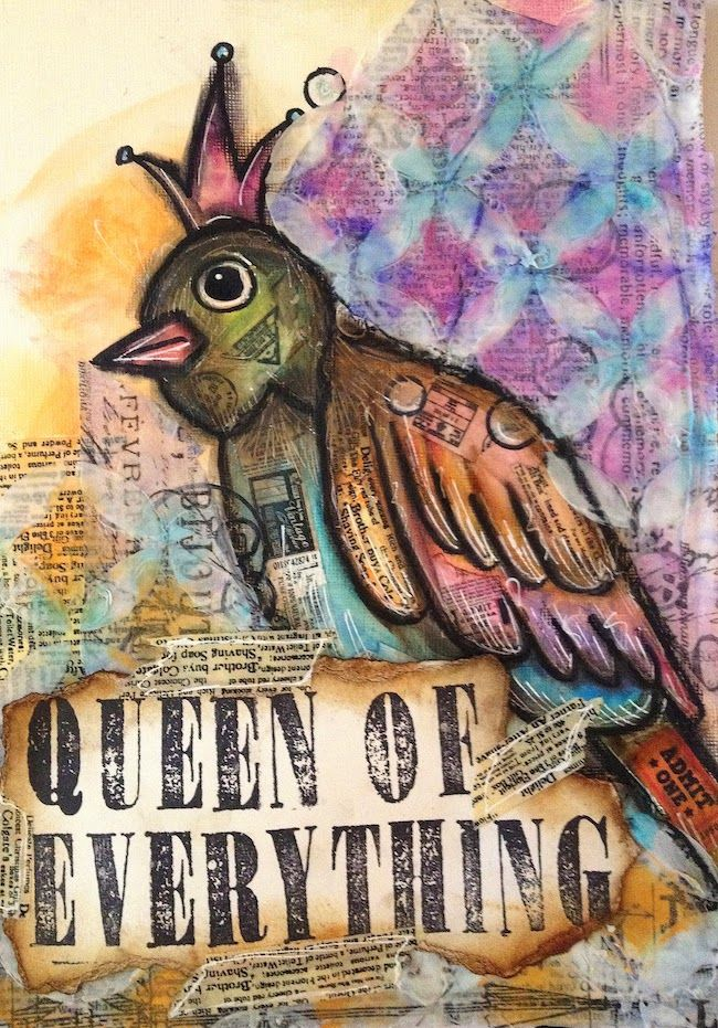 ART JOURNAL PAGE | QUEEN OF EVERYTHING | Nika In Wonderland Art Journaling and Mixed Media Tutorials